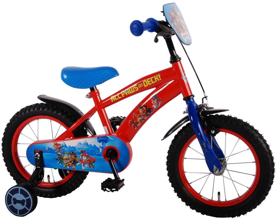 """Bicykel Paw Patrol 14"""" červeno-modrý"""