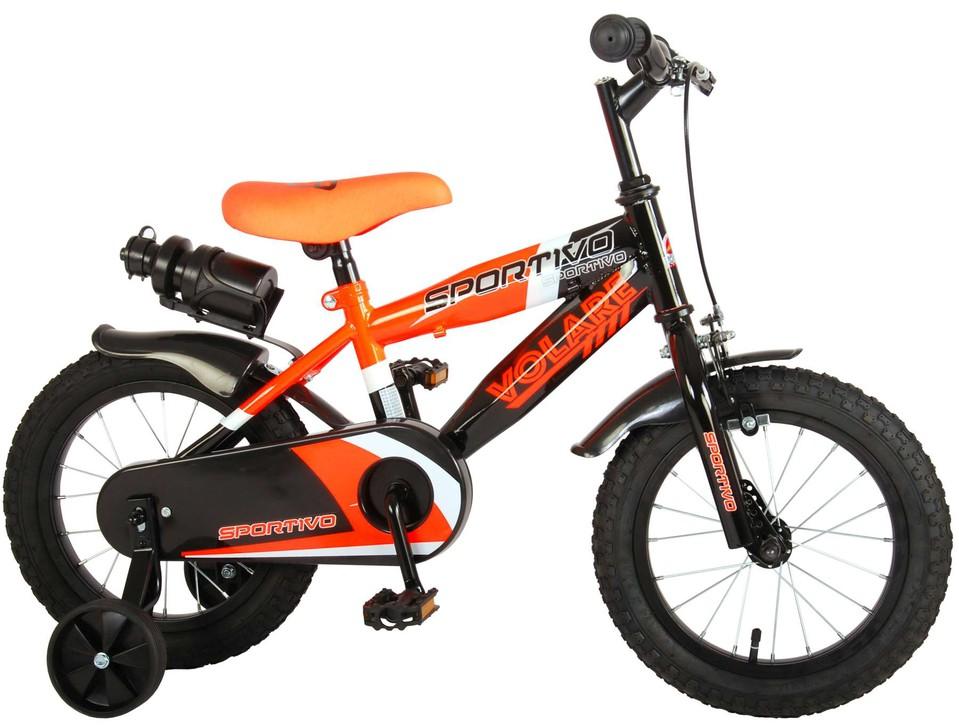 "Bicykel Sportivo 14"" oranžovo-čierny"