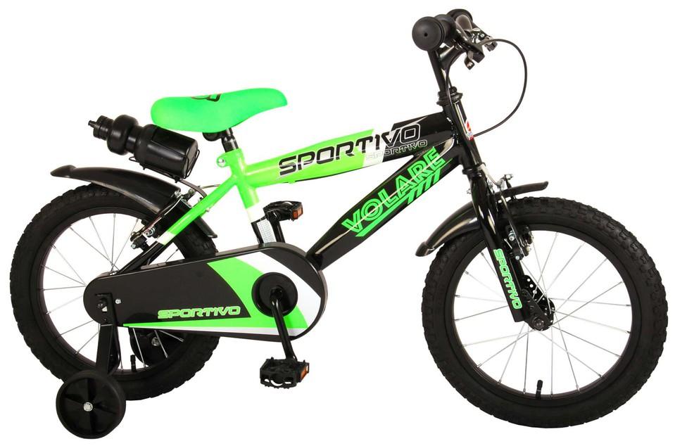 """Bicykel Sportivo 16"""" zeleno-čierny"""