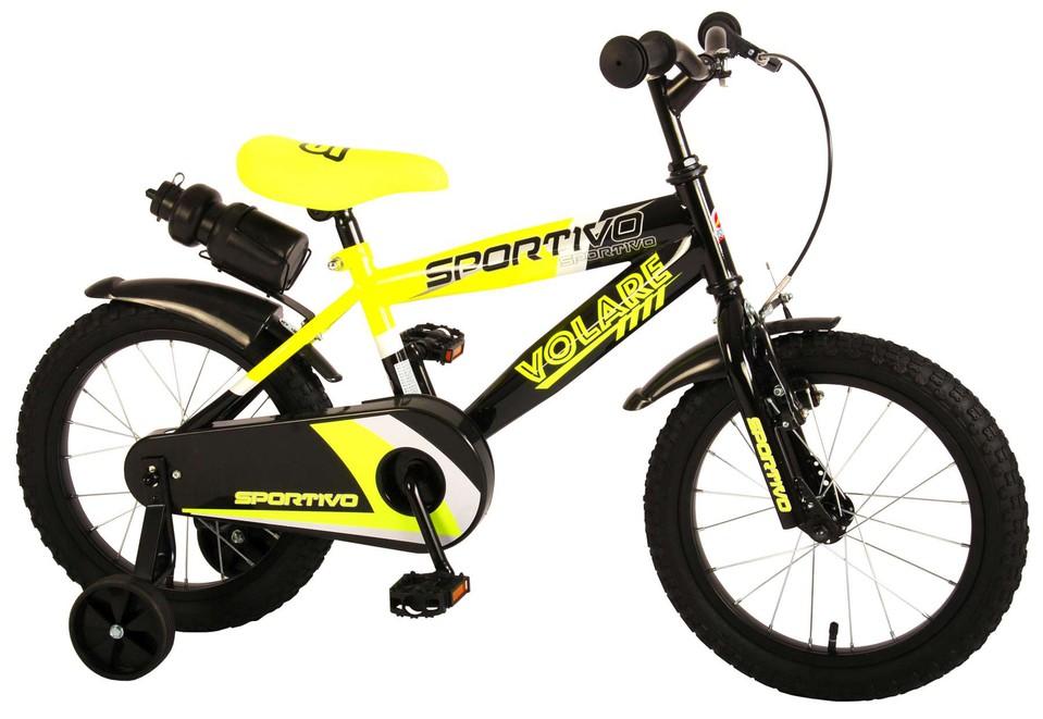 """Bicykel Sportivo 16"""" žlto-čierny"""