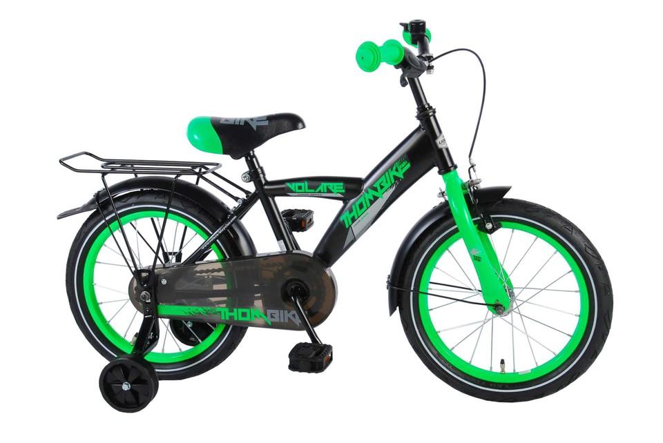 """Bicykel Thombike 16"""" zeleno-čierny"""