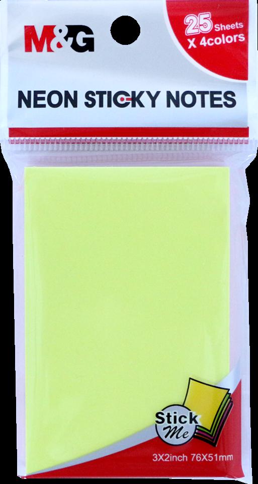 Bločky lepiace 76x51mm, 25x4-farby