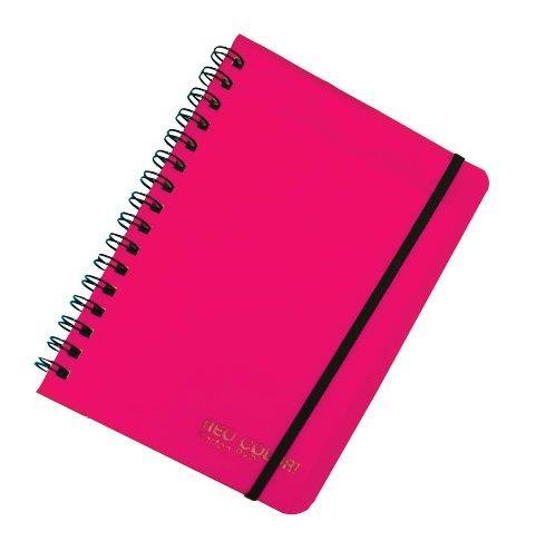 Blok so špirálou A6,ružový