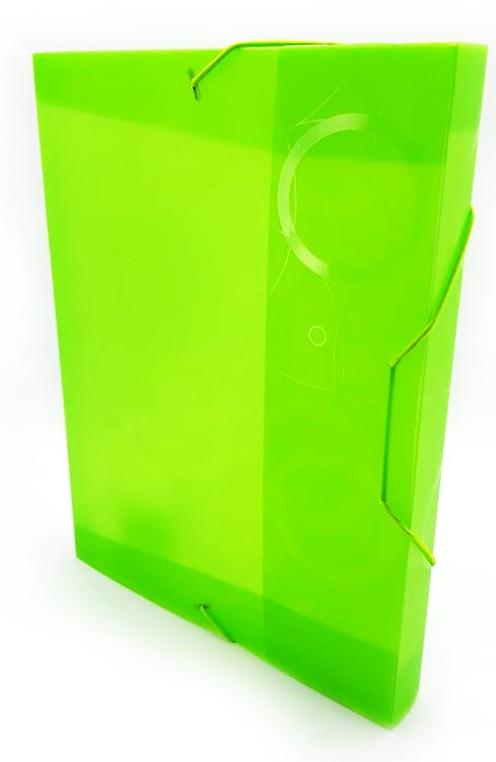 Box na spisy s gumou A4 zelená