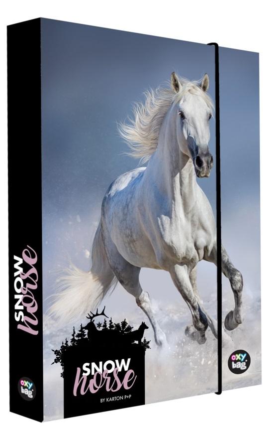 Box na zošity A5 Jumbo Snow Horse