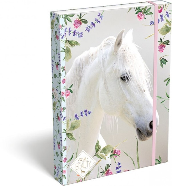 Box na zošity A5 Wild Beauty ,biely kôň