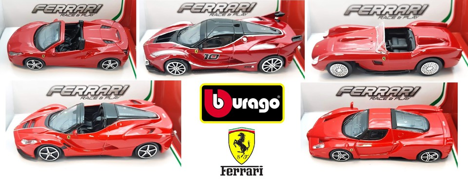 Bburago Ferrari Race & Play 1/43 - 488 Spider