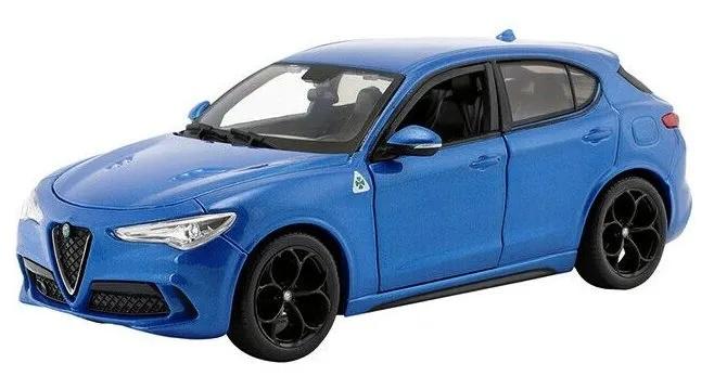 Burago auto 1:24 Plus Alfa Romeo Stelvio modrá