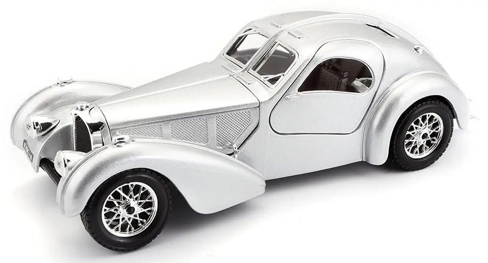 Bburago auto 1:24 Bugatti Atlantic strieborná