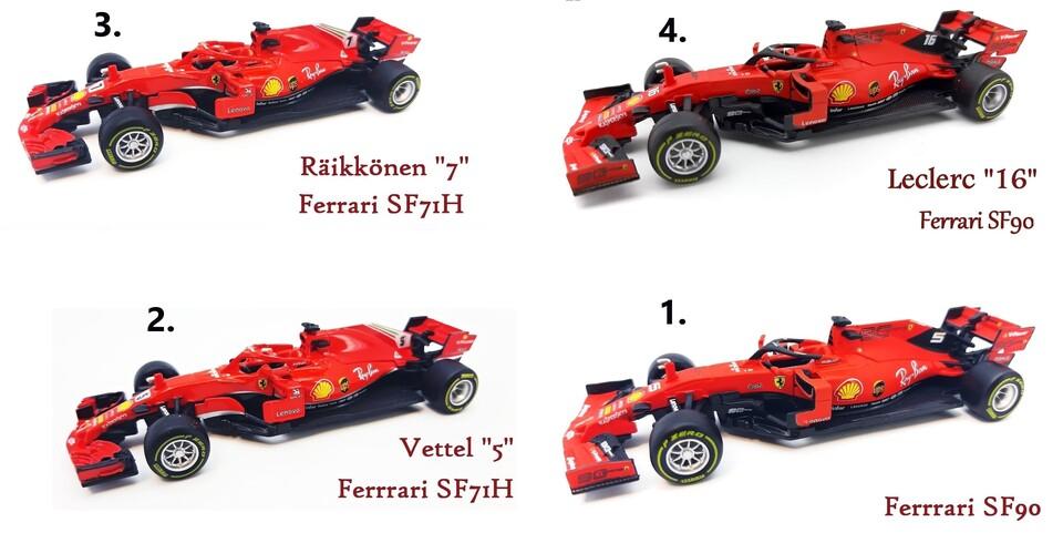 Bburago auto Ferrari F1 14cm 1:43