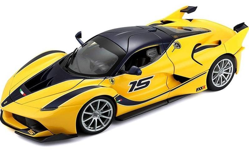 Bburago auto Ferrari FXX K 1:18 žlté