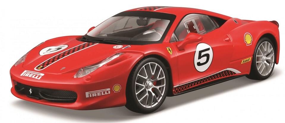 Burago 1:24 Ferrari Racing 458 Challenge červená