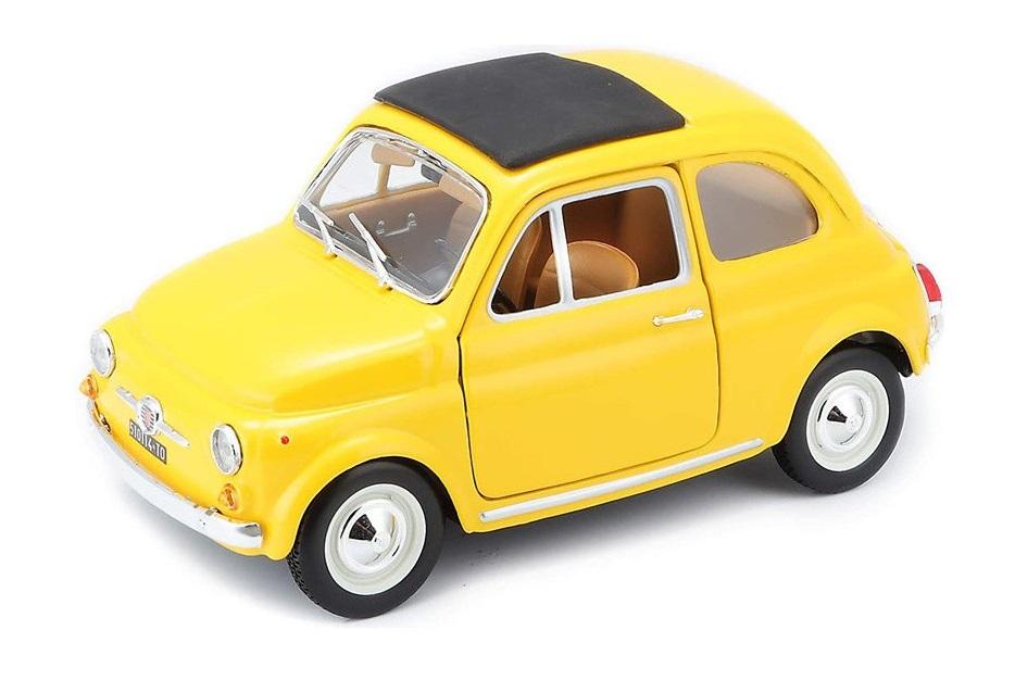 Bburago 1:24 Fiat 500L (1968) Yellow
