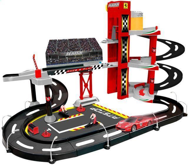 Bburago 1:43 Ferrari Race & Play garáž + 1 autíčko