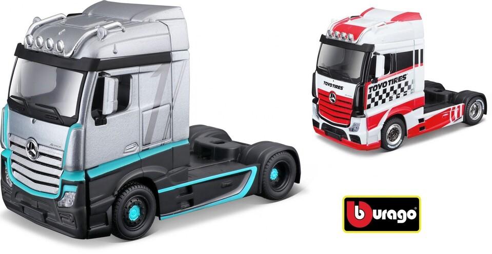 Bburago kamión Mercedes-Benz Actros 1:43 - biela–červená