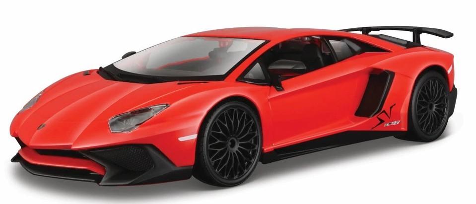 Bburago Lamborghini Aventador SV Coupé 1:24červené