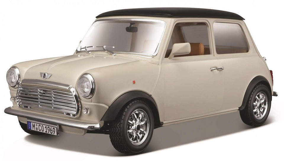 Bburago auto Mini Cooper 1:18 krémové