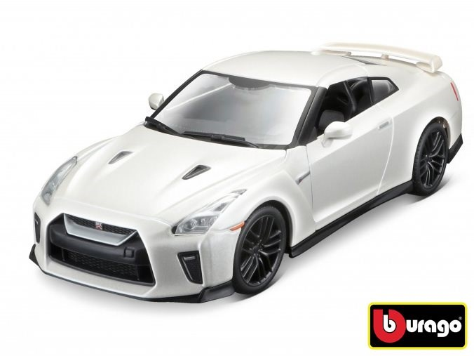 Bburago 2017 Nissan GT-R 1:24 biele