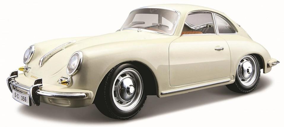 Bburago auto 1:24 Porsche 356B Coupe (1961) krémová