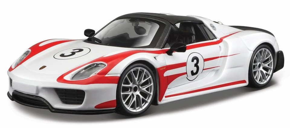 Bburago auto Race Porsche 918 Weissach 1:24
