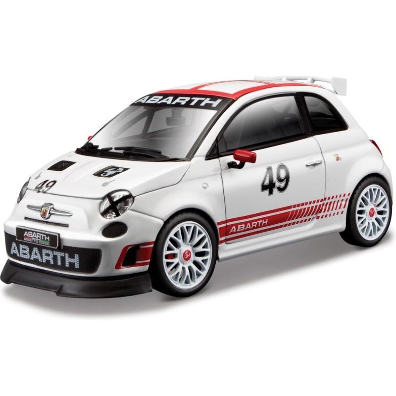 Bburago auto Race Abarth 500 White 14cm