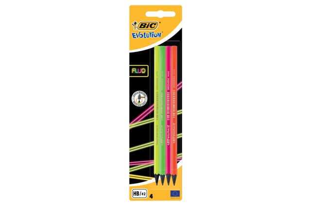 BIC Evolution Fluo Ceruzka 4ks