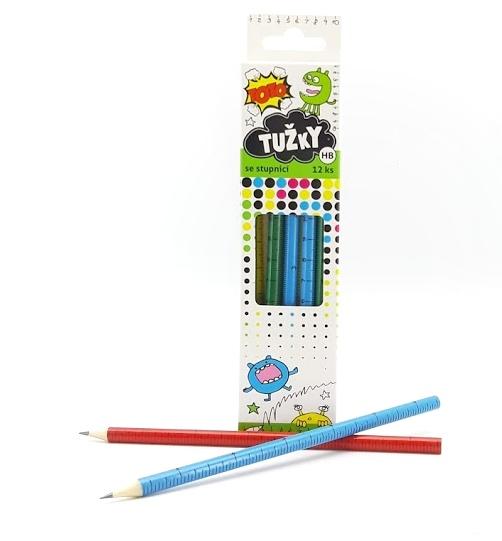 Ceruzky so stupnicou 12 ks