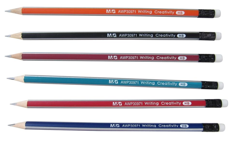 Ceruzka HB s gumou farebný motív