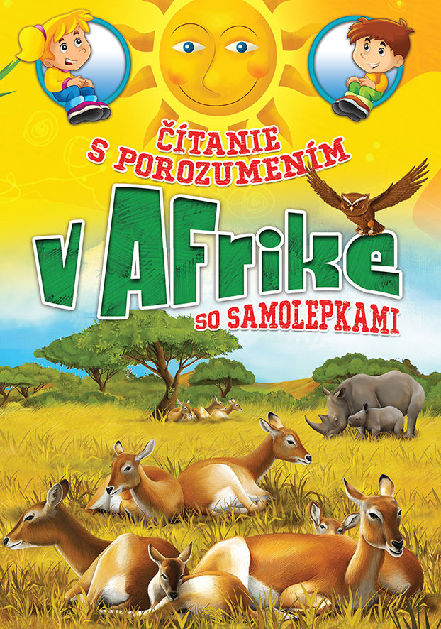 V Afrike - čítanie s porozumením so samolepkami