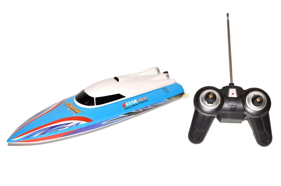 Čln Thunder RC 32cm - modrá
