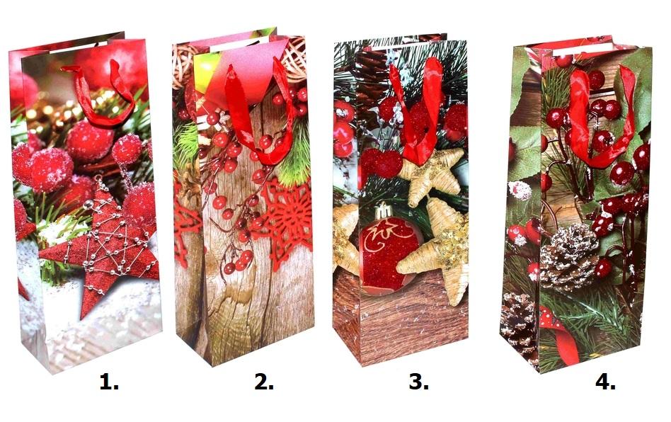 Vianočná darčeková taška 14x39x8,4cm