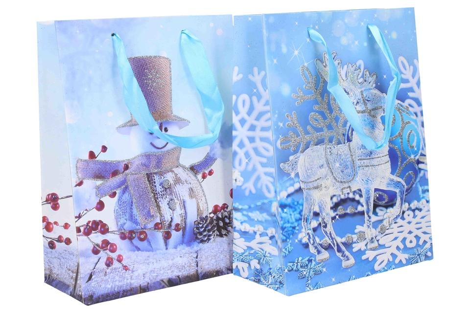 Vianočná darčeková taška 18x24x8,5cm