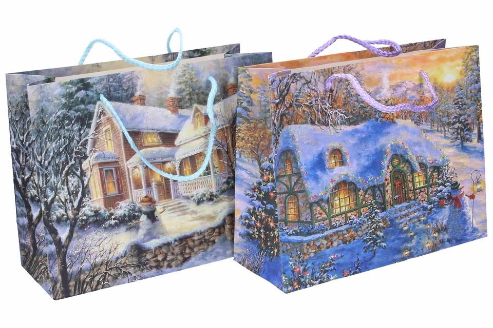 Vianočná darčeková taška 24,5x19x9cm