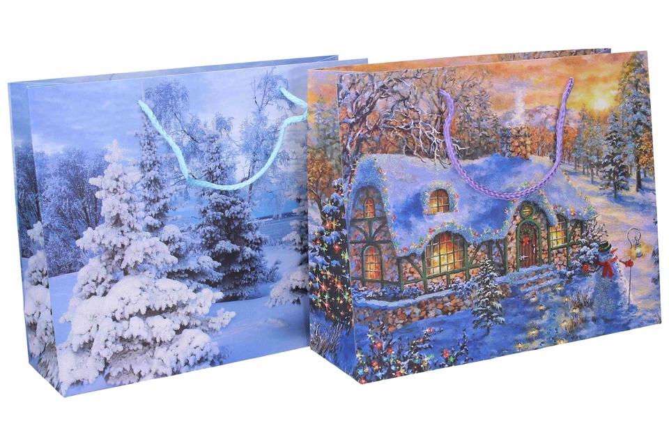 Vianočná darčeková taška 31x25x10cm