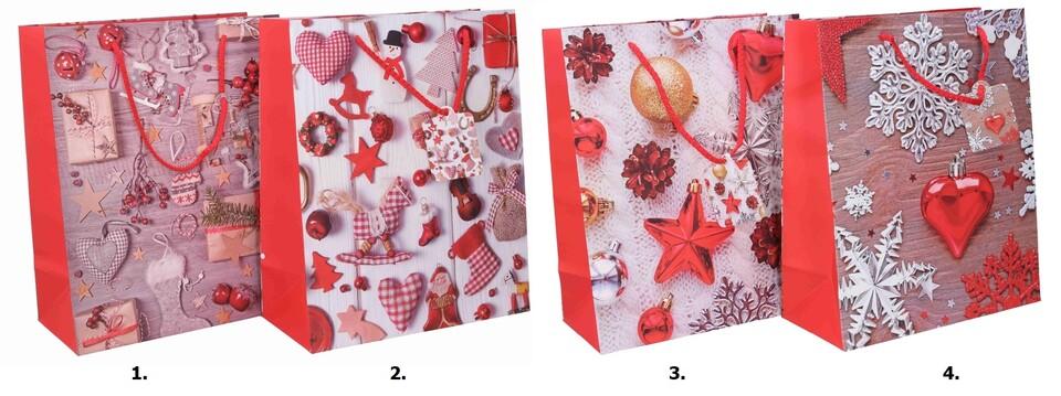 Vianočná darčeková taška 26x32x12,5cm