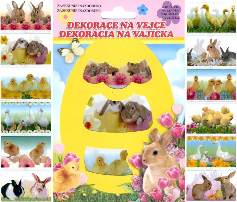 Veľkonočná dekorácia na vajíčka 12ks