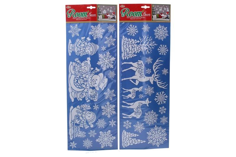 Vianočné nálepky 26,5x20cm - snehuliak