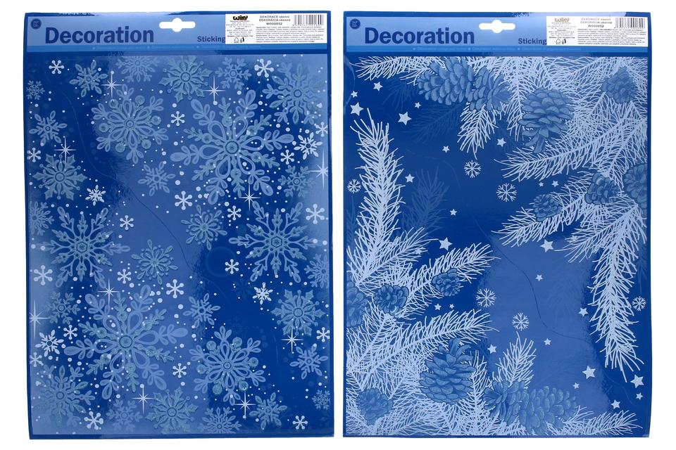 Vianočná nálepka na okno rohová 40x29cm