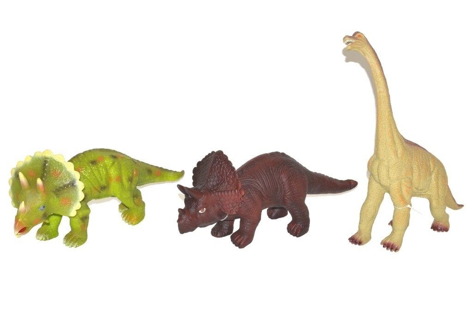 Dinosaury 35cm - hnedá - Triceratops