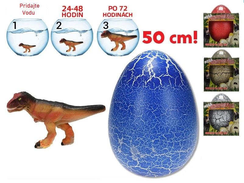 Dinosaurus vo vajíčku 20cm - červená