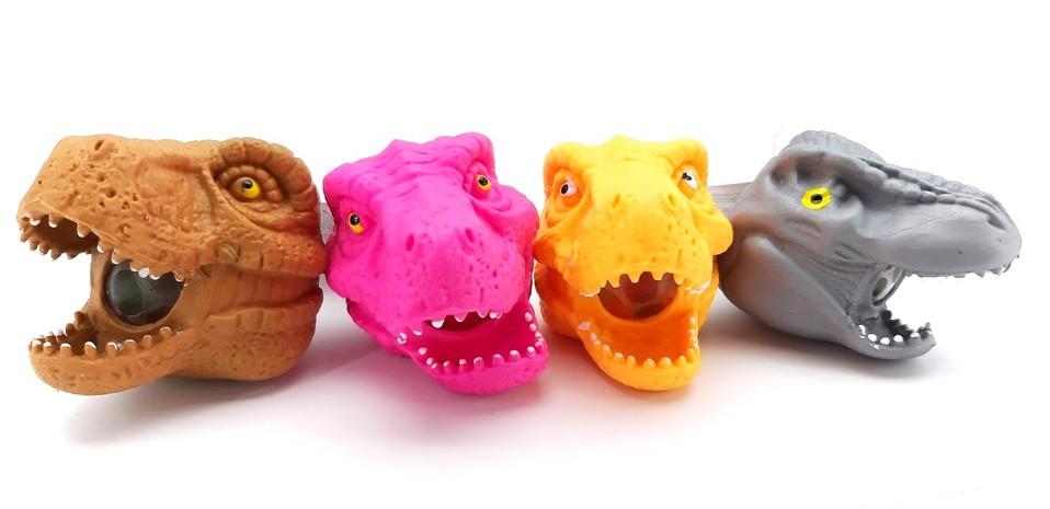 Dinosauria hlava mačkacia 8cm - náhodná