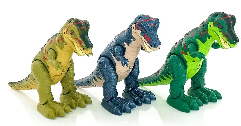 Interaktívny Dinosaurus s efektami 29cm - tmavo modrá