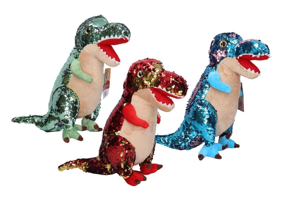 Plyšový dinosaurus 30cm - červená