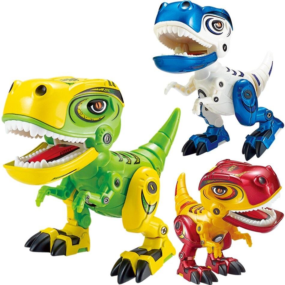Dinosaurus s efektmi 12cm - zelená