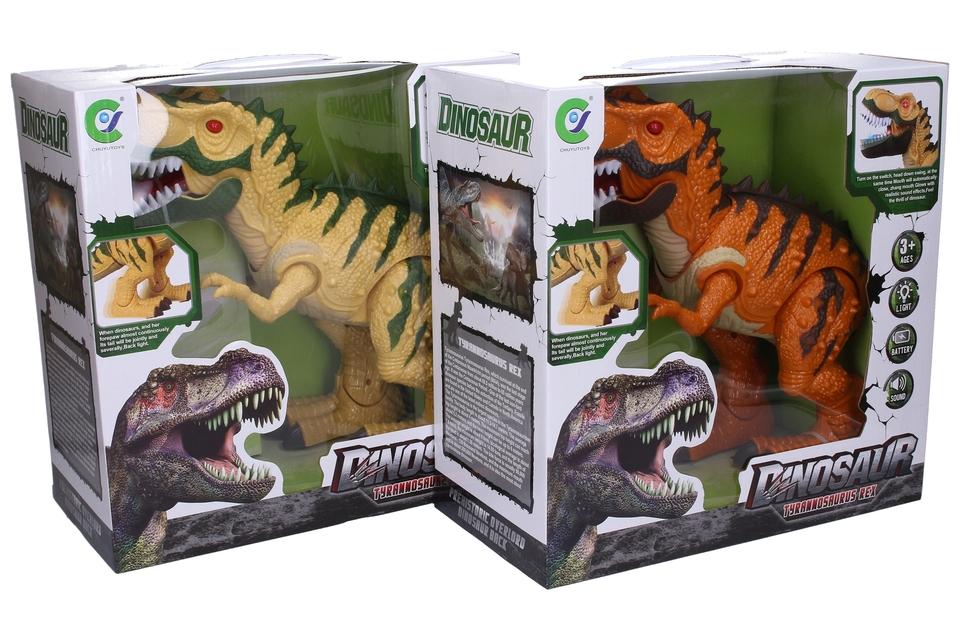 Dinosaurus s efektmi 50cm - oranžová