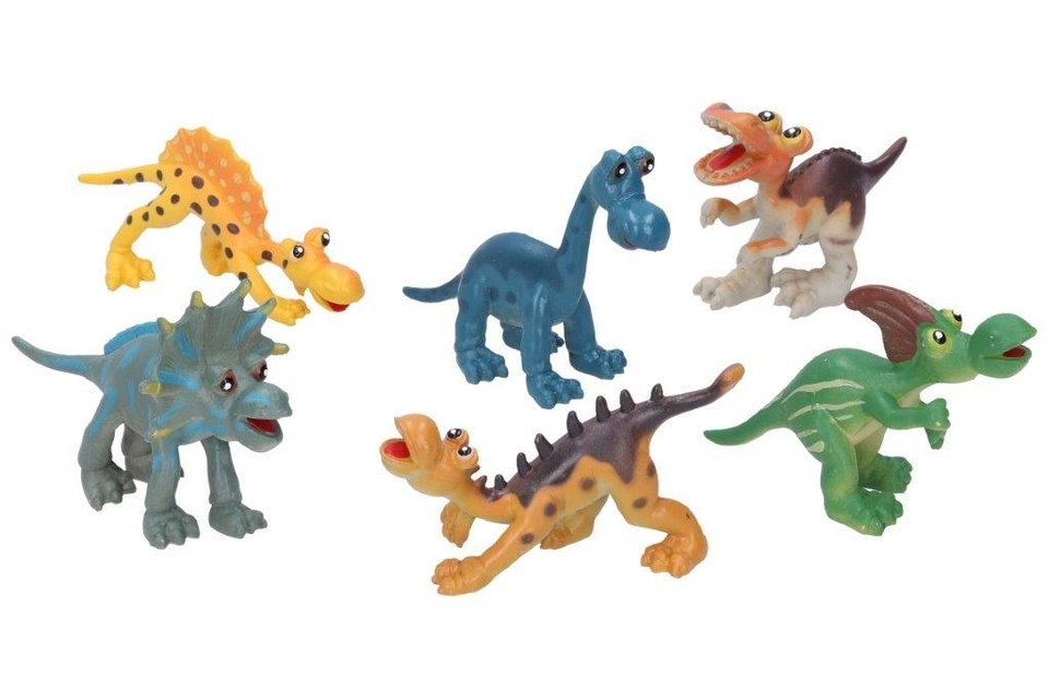 Dinosaurus sada 10cm 6ks