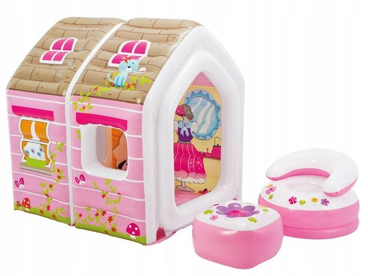 INTEX 48635 Detský nafukovací domček pre princeznú 124x109x122cm