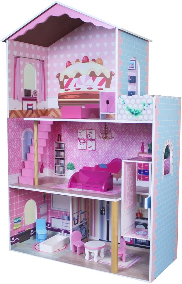 Drevený domček pre bábiky 107x70x30cm