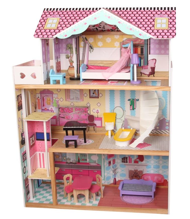 Domček pre bábiky drevený 82x30x110cm