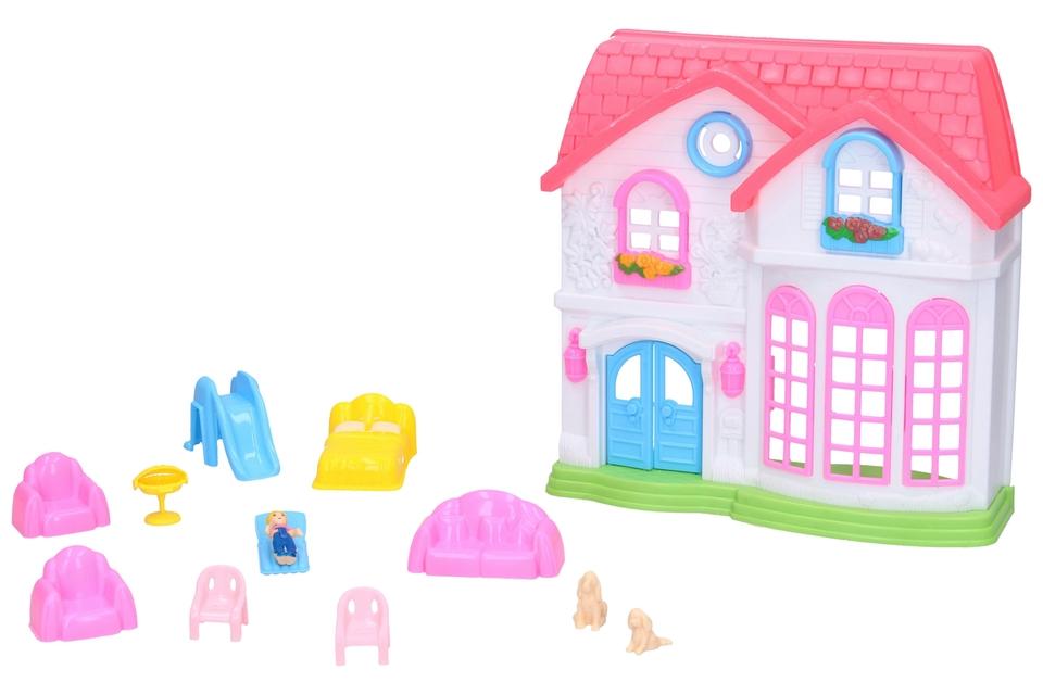 Domček set 18 cm - s veľkými oknami